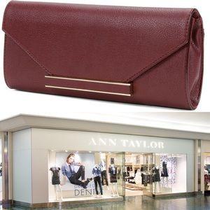 Ann Taylor Structured Envelope Clutch in Chianti